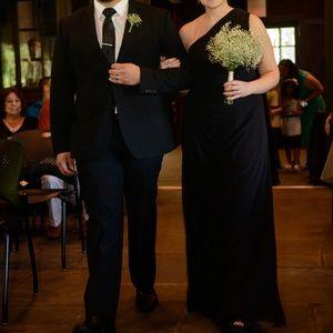 Bill Levkoff One Shoulder Chiffon Bridesmaid Gown